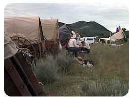 Camp at Emigration Canyon