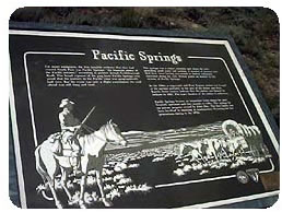 Pacific Springs Marker