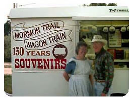 Mormon Wagon Train Souvenir Stand