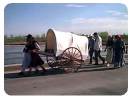 Everyone Takes a Turn at Pulling the Handcart