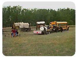 A School Bus Out On the Prairie